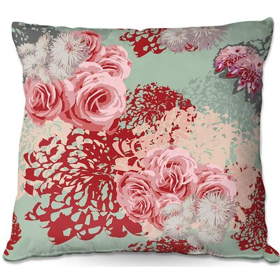 Zara Martina Mint/Blush Throw Pillow Size: 16 H x 16 W x 4 D