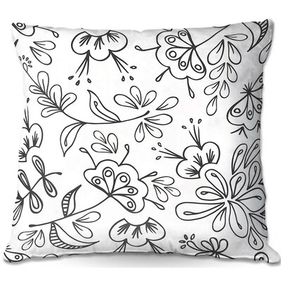Band with Flora Throw Pillow Size: 16 H x 16 W x 4 D