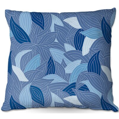 Leaves Throw Pillow Size: 16 H x 16 W x 4 D