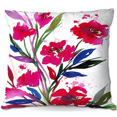 Julia Di Sano Pocketful Posies Throw Pillow Size: 16 H x 16 W x 4 D, Color: Red