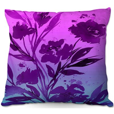 Julia Di Sano Pocketful Posies Throw Pillow Size: 16 H x 16 W x 4 D, Color: Pink Purple