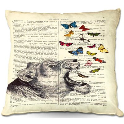 Madame Memento Lioness Throw Pillow Size: 16 H x 16 W x 4 D