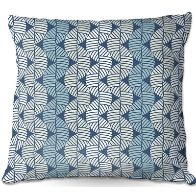 Waves Throw Pillow Size: 22 H x 22 W x 5 D