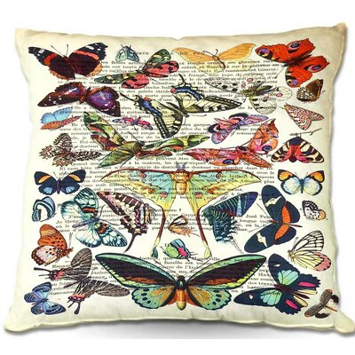 Butterflies Throw Pillow Size: 16 H x 16 W x 4 D