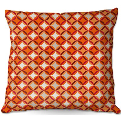 Circles Throw Pillow Size: 16 H x 16 W x 4 D