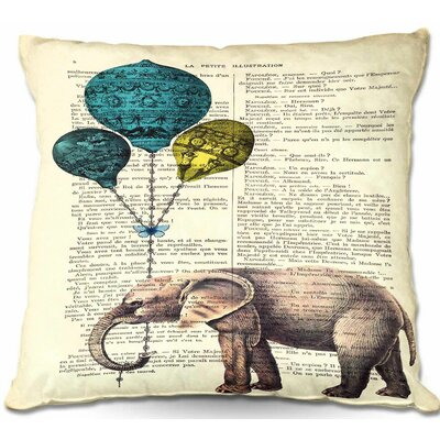 Elephant Balloons Throw Pillow Size: 16 H x 16 W x 4 D