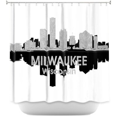 City IV Milwaukee Wisconsin Shower Curtain