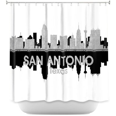 City IV San Antonio Texas Shower Curtain
