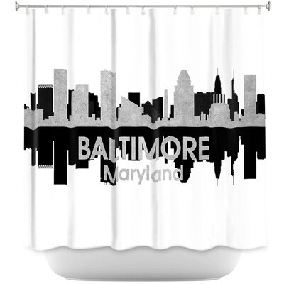 City IV Baltimore Maryland Shower Curtain