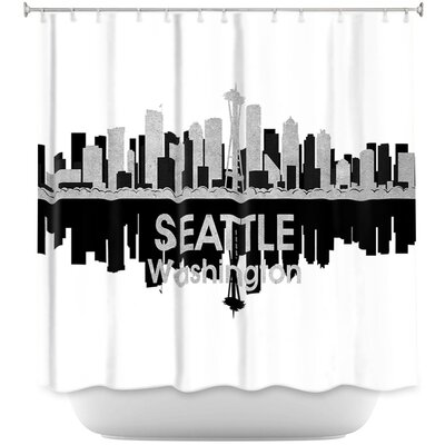 City IV Seattle Washington Shower Curtain