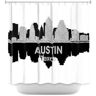 City IV Austin Texas Shower Curtain