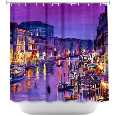 Romantic Venice Night Shower Curtain