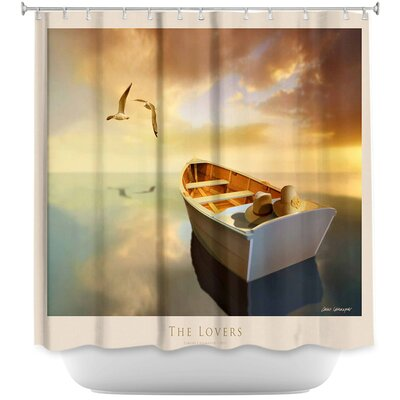 The Lovers Birds and Boats Shower Curtain