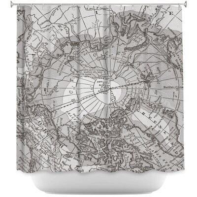 Arctic Map Shower Curtain