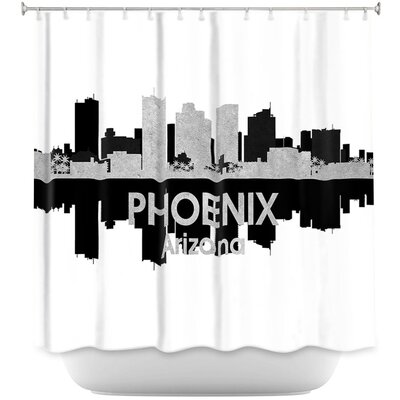 City IV Phoenix Arizona Shower Curtain