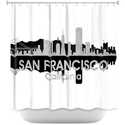 City IV San Francisco California Shower Curtain