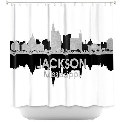 City IV Jackson Mississippi Shower Curtain
