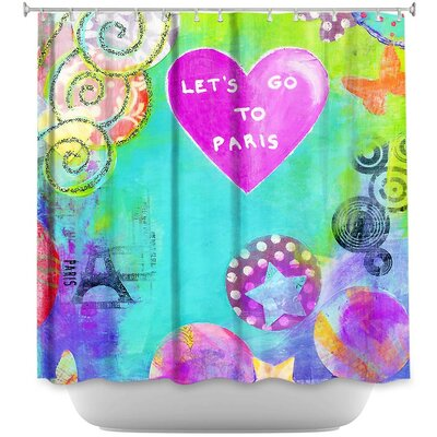 Lets Go to Paris Shower Curtain