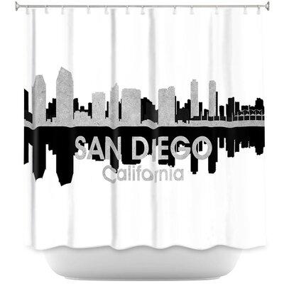 City IV San Diego California Shower Curtain