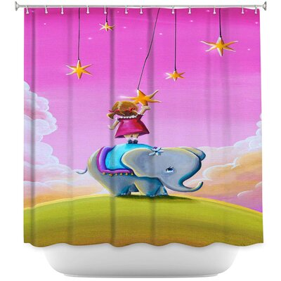 Elephant Stars Shower Curtain