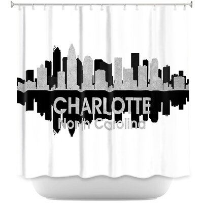 City IV Charlotte North Carolina Shower Curtain