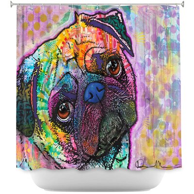 Pug Love Dog Shower Curtain