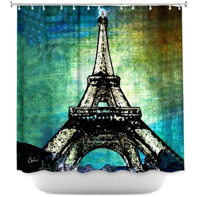 Paris Eiffel Tower Night Shower Curtain