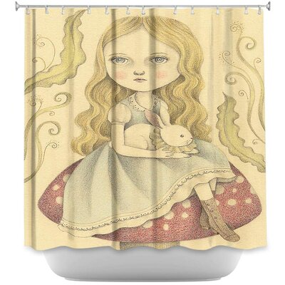 Alice Contemplating Shower Curtain