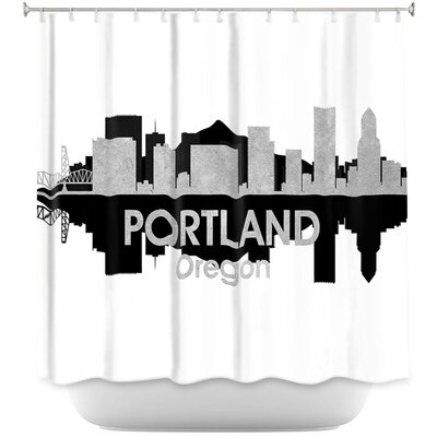 City IV Portland Oregon Shower Curtain