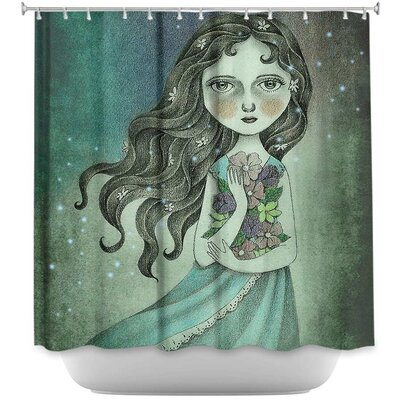 Flower the Midnight Goddess Shower Curtain