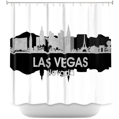 City IV Las Vegas Nevada Shower Curtain