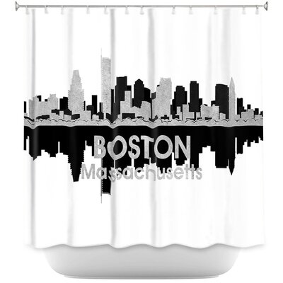 City IV Boston Massachusetts Shower Curtain