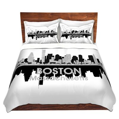 Boston Massachusetts Duvet Set Size: King