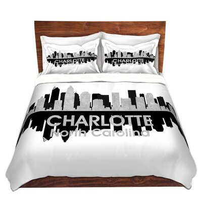 Charlotte North Carolina  Duvet Set Size: Queen
