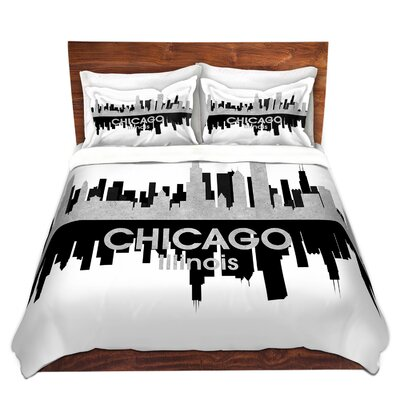 Chicago Illinois Duvet Set Size: Twin