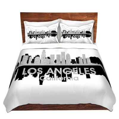 City IV Los Angeles California Duvet Set Size: King