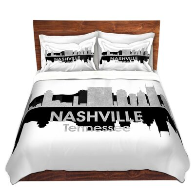 City IV Nashville Tennessee Duvet Set Size: Queen