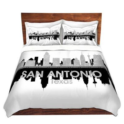 San Antonio Texas Duvet Set Size: Queen