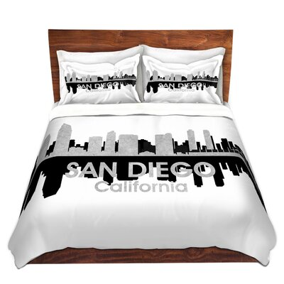 City IV San Diego California Duvet Set Size: Twin