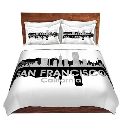 San Francisco California Duvet Set Size: Queen