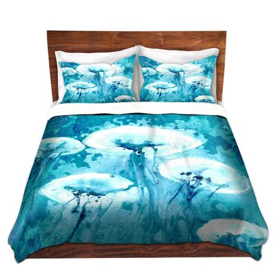 Luminous Jelly Fish Duvet Set Size: Queen