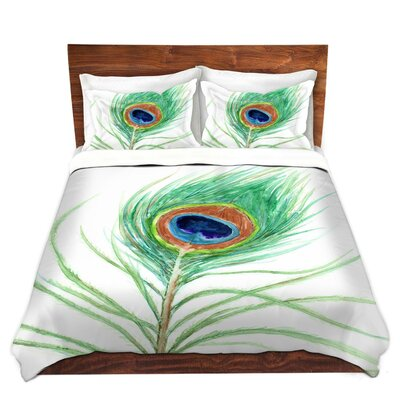 Peacock Feather Duvet Set Size: Twin