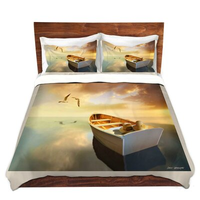 The Lovers Birds and Boats Duvet Set Size: Twin