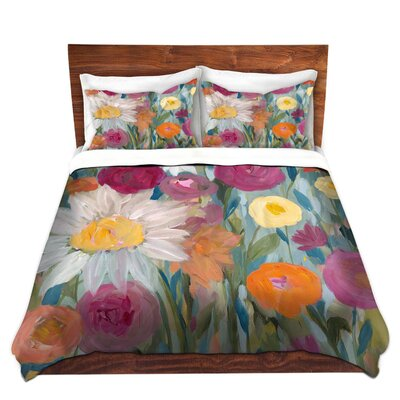 Earth at Daybreak Flowers Duvet Set Size: Queen