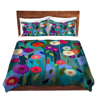 Good Morning Sunshine Flowers Duvet Set Size: Queen