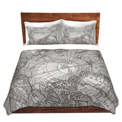 Arctic Map Duvet Set Size: King