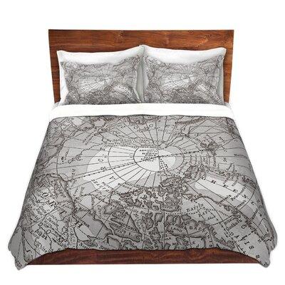 Arctic Map Duvet Set Size: Queen