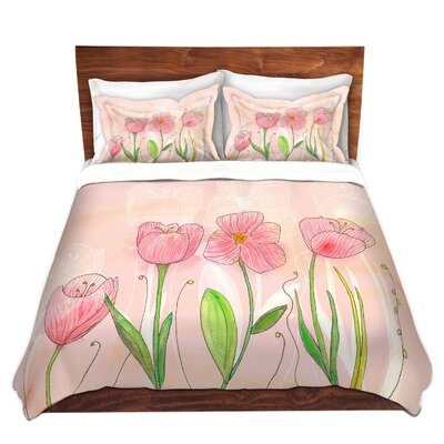 Flowers Duvet Set Size: Queen