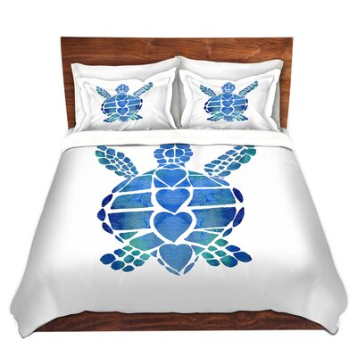 Turtle Heart Duvet Set Size: Twin