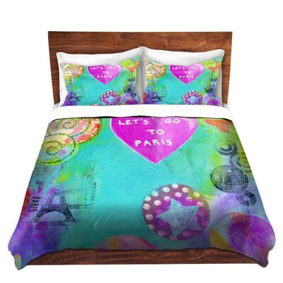 Lets Go To Paris Duvet Set Size: Twin